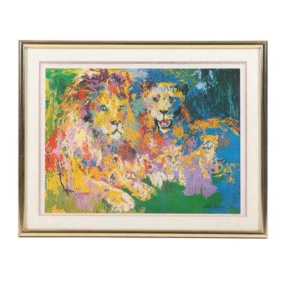"Late 20th Century Offset Lithograph after LeRoy Neiman ""Lion's Pride"""