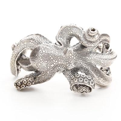 Kabana Sterling Silver Octopus Cuff Bracelet