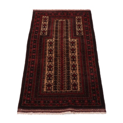 2'9 x 5'1 Hand-Knotted Persian Baluch Rug, circa 1960