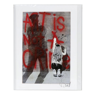 "Enjoy Denial Giclée ""Art Is Not A Crime"""