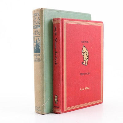"1954 ""Winnie the Pooh"" and 1922 ""Once Upon a Time"" Books by A. A. Milne"
