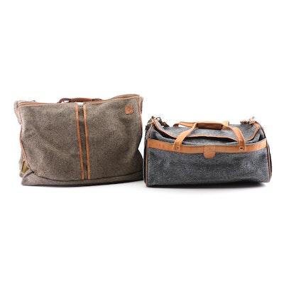 Hartmann Luggage Tweed and Leather Trim Weekender and Garment Bag