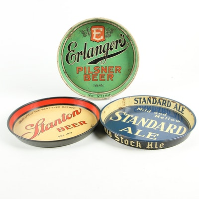 Vintage Beer Trays Featuring New York Breweries