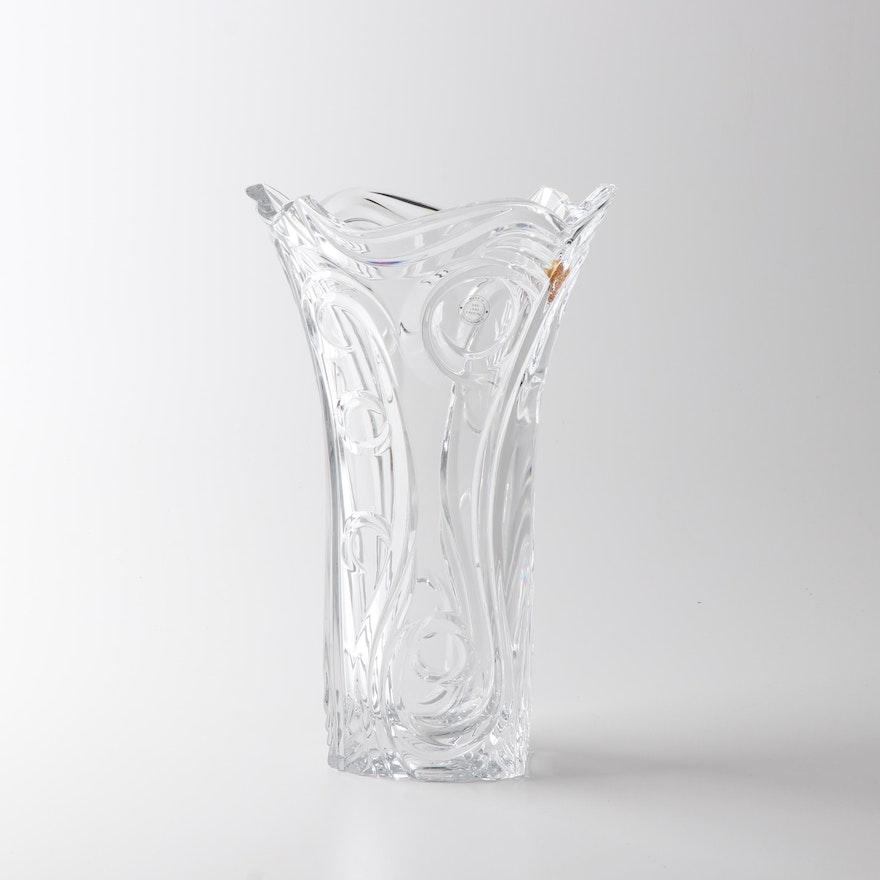 Modernist Czech Republic Lead Crystal Vase, 21st Century