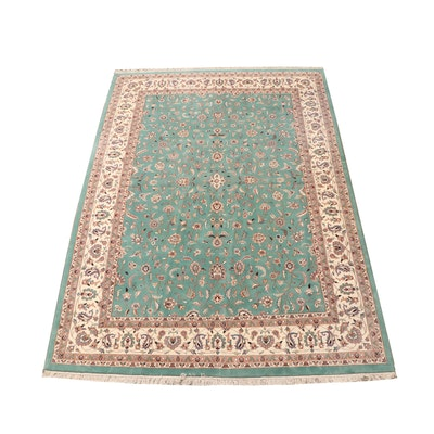 Hand-Knotted Sino-Persian Kashan Style Wool Room Sized Rug