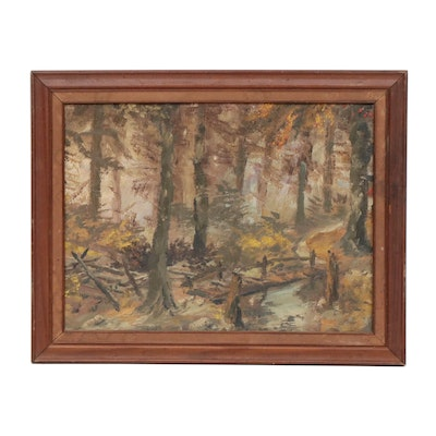 Forest Landscape Oil Painting