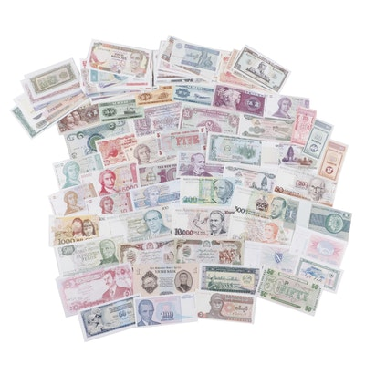Foreign Currency Group, Including Asian, South American, and African Banknotes