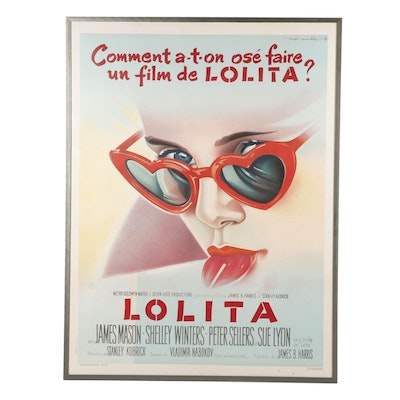 """French Movie Poster after Roger Soubie """"Lolita"""""""