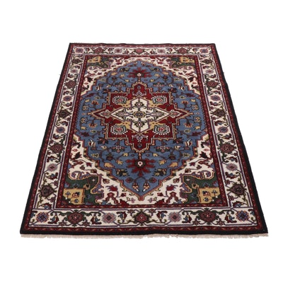 6'0 x 9'2 Hand-Knotted Indo-Persian Heriz Area Rug