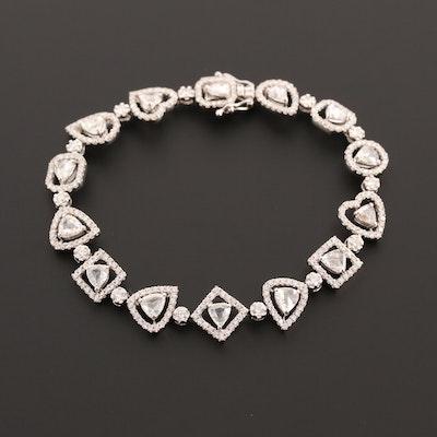 18K White Gold 5.58 CTW Diamond Bracelet