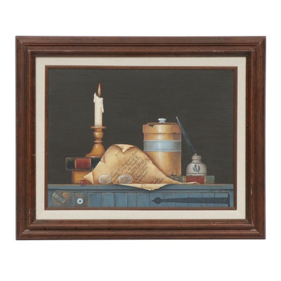 Shirley Ewick Tabletop Still Life Acrylic Painting