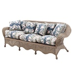 Natural Wicker Sofa, Contemporary