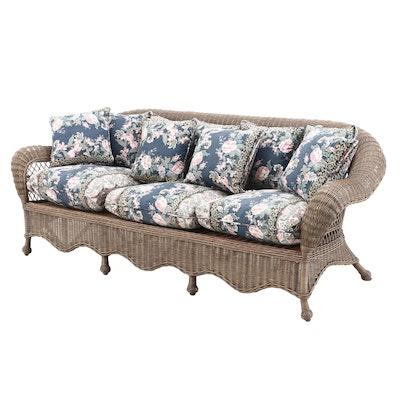 Natural Wicker Sofa, Contemporary