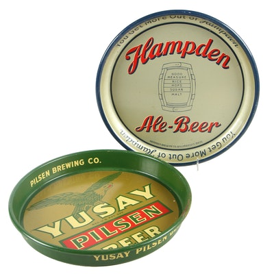 Advertising Trays for Hampden and Yusay Beer