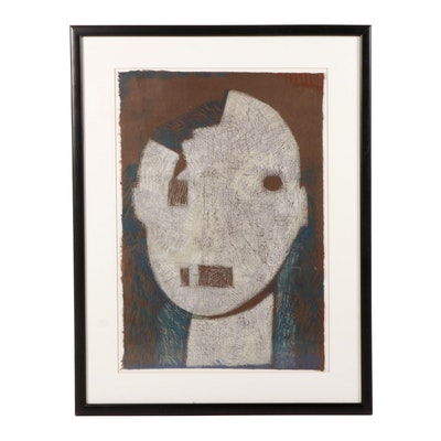 "Jeanine Ryding Woodblock ""Head #2"""