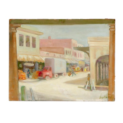 George Bohland City Market Oil Painting