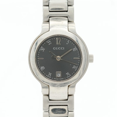 Gucci Stainless Steel Wristwatch With Date