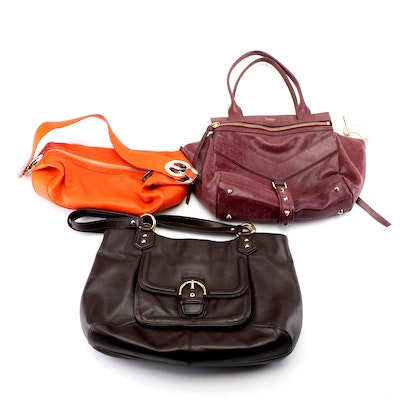 Coach, Escada and Botkier New York Leather Hobo, Shoulder and Trapeze Bags