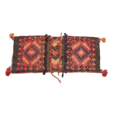 1'7 x 3'6 Handwoven Persian Shiraz Kilim Saddle Bag, circa 1940s