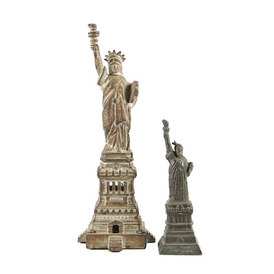 Cast Metal Statue of Liberty Souvenir Figurines