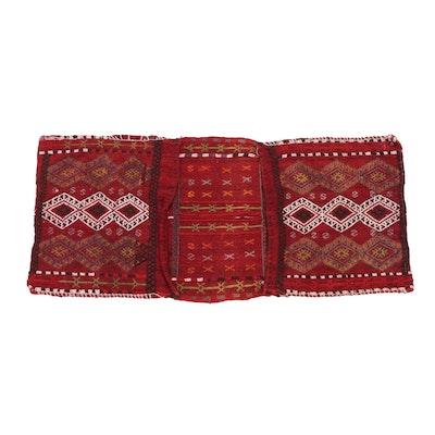 1'5 x 3'0 Handwoven Caucasian Soumak Saddlebag, circa 1960s