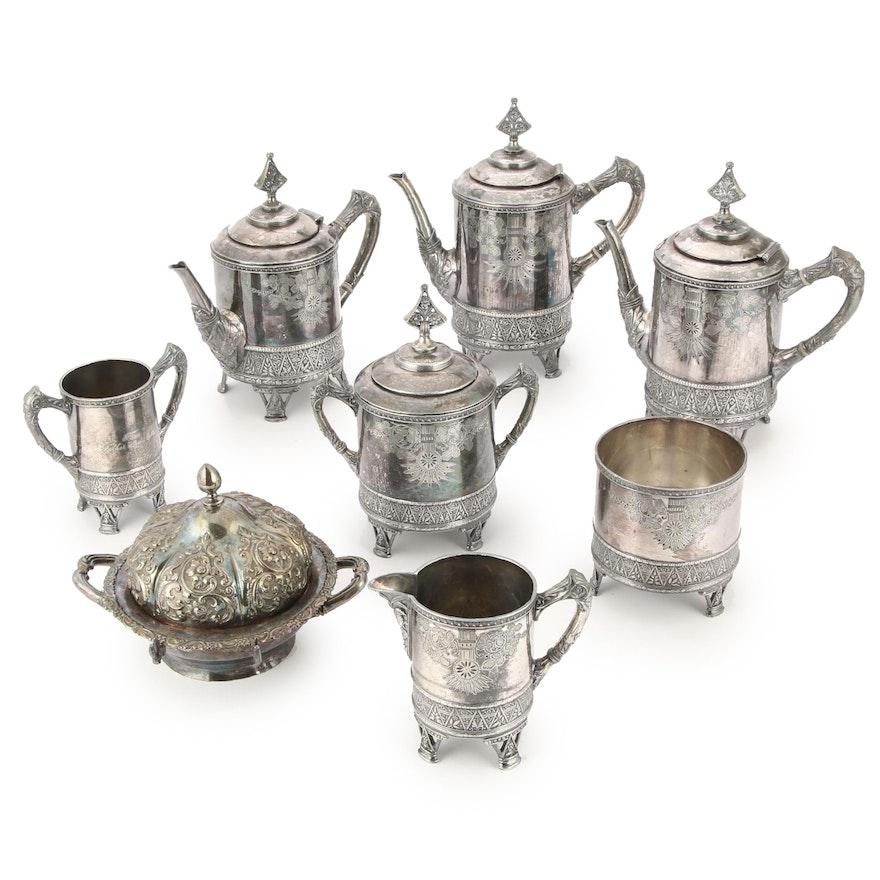 Rogers Smith & Co. Silverplate Tea Set