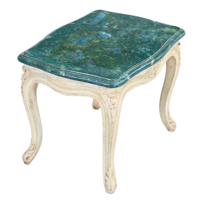 Louis XV Style Faux Painted End Table, Mid-20th Century