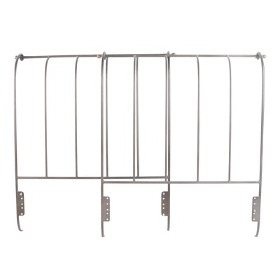 Scrolled Metal Twin Bed Frame, Late 20th Century