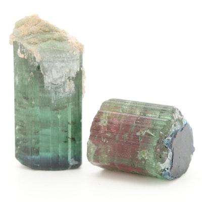 Loose 96.47 CTW Parti-Colored Tourmaline Gemstones