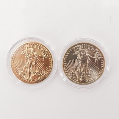Two Saint Gaudens $20 Double Eagle Replicas