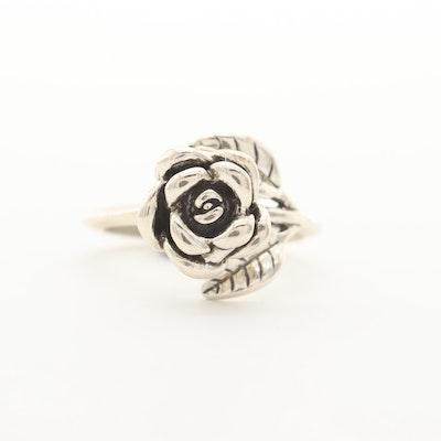 Kabana Sterling Silver Rose Ring