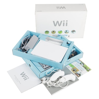 Nintendo Wii Video Game Console and Accessories