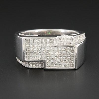 14K White Gold 1.72 CTW Diamond Ring
