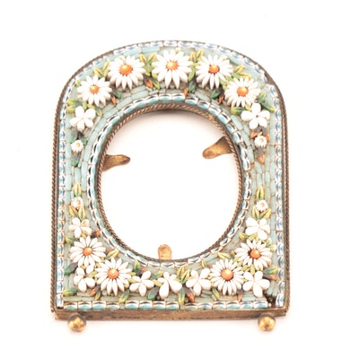 Micro Mosaic Brass Oval Frame