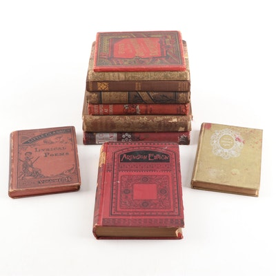 "Antique Books Featuring ""Dante's Inferno"", ""Longfellow's Poems"" and More"