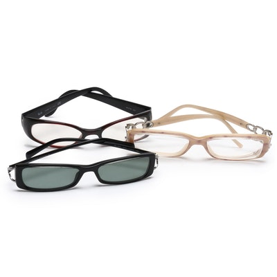 Ray-Ban and Salvatore Ferragamo Eyeglasses and Donna Karan Sunglasses