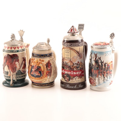Anheuser-Busch Collectors Club Membership and Anniversary Beer Steins