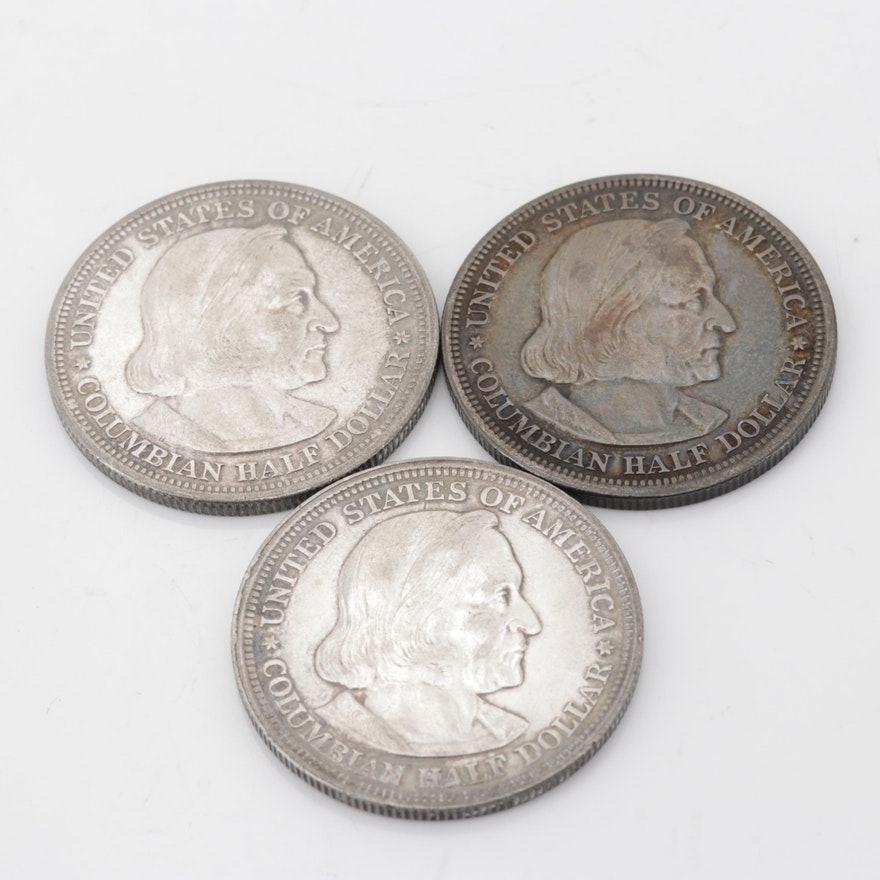 1893 Columbian Exposition Silver Half Dollar Commemorative Coins