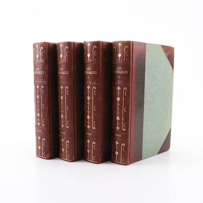 """1887 """"Les Miserables"""" by Victor Hugo, in Four Volumes"""
