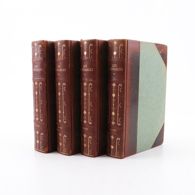 "1887 ""Les Miserables""  Four Volume Set by Victor Hugo"
