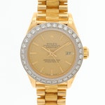 Vintage Rolex Datejust 18K Yellow Gold and Diamond Bezel Wristwatch, 1987