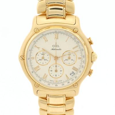 Ebel 18K Yellow Gold 1911 Chronograph Wristwatch