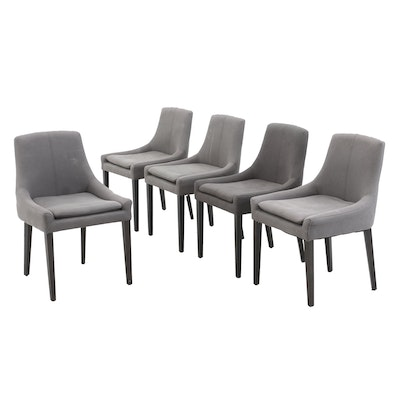Five Upholstered Dining Chairs, Contemporary