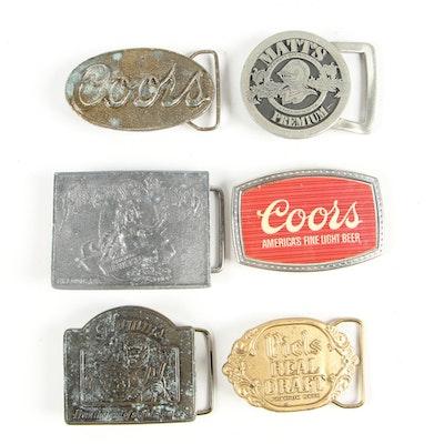 Metal Belt Buckles Featuring Various Breweries
