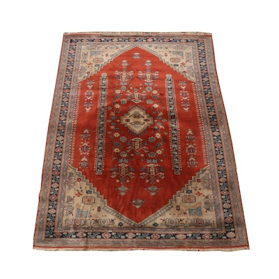 Hand-Knotted Anatolian Wool Medallion Rug