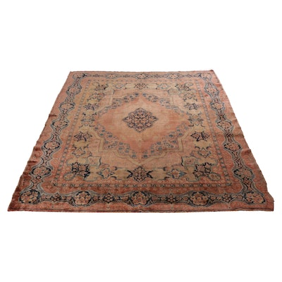 8'9 x 11'8 Hand-Knotted Persian Farahan Sarouk Room Sized Rug, circa 1920