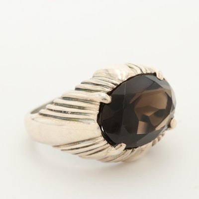 Kabana Sterling Silver Smoky Quartz Ring