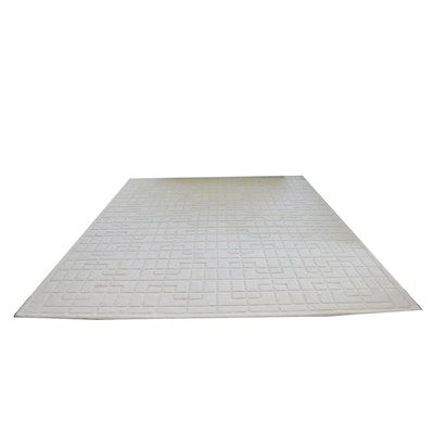 """Tufted Surya """"Mystique"""" Sculpted Wool Room Sized Rug"""
