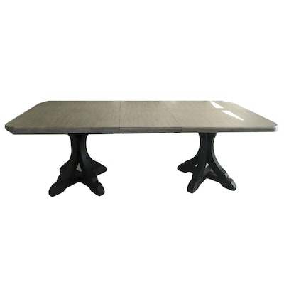 Contemporary Dining Table with Grey Finish
