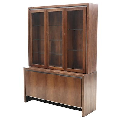 Mid-Century Walnut China Cabinet by Dillingham